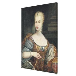 Portrait of the Wife of Pietro Leopoldo di Lorena, Canvas Print