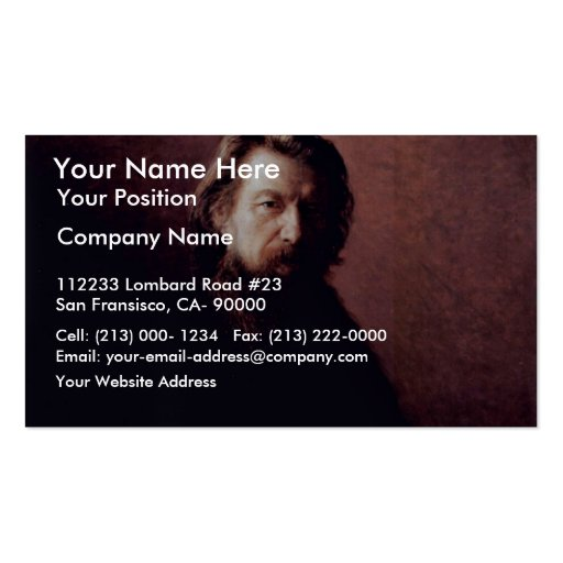 Portrait Of The Writer Alexei Antipowitsch Potechi Business Card Templates