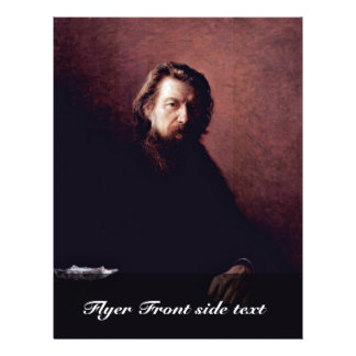Portrait Of The Writer Alexei Antipowitsch Potechi Full Color Flyer