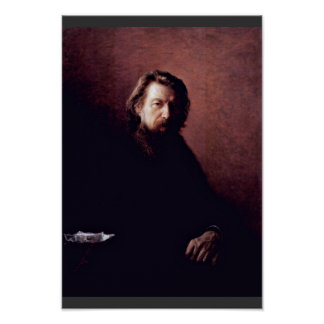 Portrait Of The Writer Alexei Antipowitsch Potechi Poster