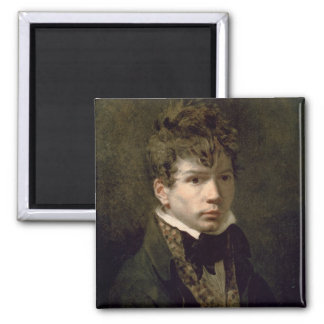Portrait of the Young Ingres  1790s 2 Inch Square Magnet
