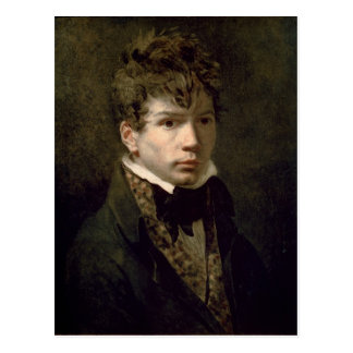 Portrait of the Young Ingres  1790s Postcard