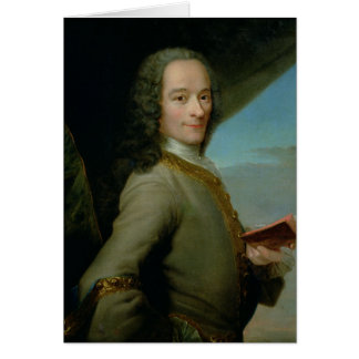 Portrait of the Young Voltaire Greeting Card