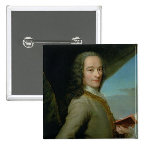 Portrait of the Young Voltaire Pinback Button