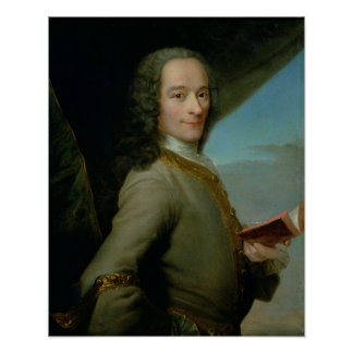 Portrait of the Young Voltaire Print