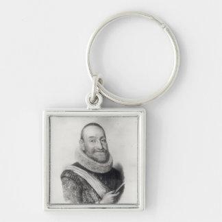 Portrait of Theodore Agrippa d'Aubigne Keychain