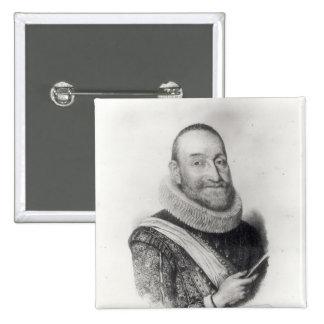 Portrait of Theodore Agrippa d'Aubigne Pinback Button