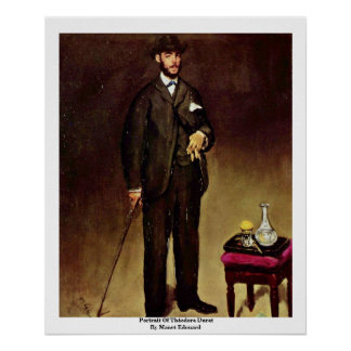 Portrait Of Théodore Duret By Manet Edouard Posters
