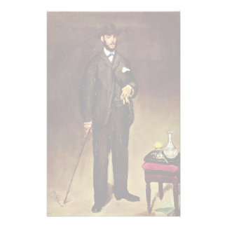 Portrait Of Théodore Duret By Manet Edouard Customized Stationery