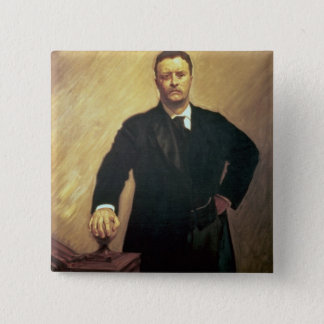 Portrait of Theodore Roosevelt Pinback Button