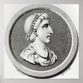 Portrait of Theodosius Poster