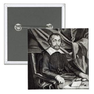 Portrait of Theophraste Renaudot  age 58, 1644 Pinback Button