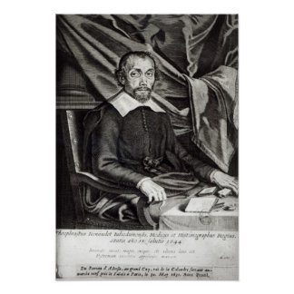 Portrait of Theophraste Renaudot  age 58, 1644 Poster