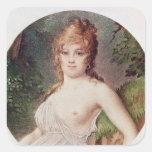 Portrait of Theresa de Cabarrus Square Sticker