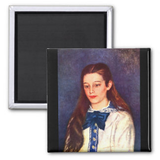 Portrait of Therese Berard by Pierre Renoir Magnet