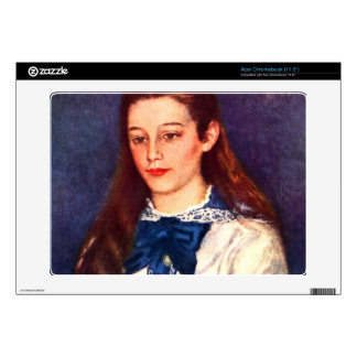 Portrait of Therese Berard by Pierre Renoir Acer Chromebook Decals
