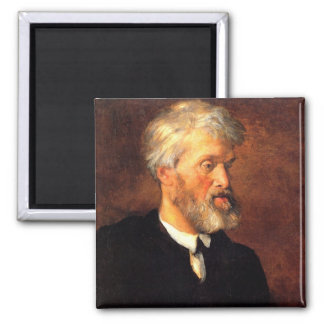 Portrait of Thomas Carlyle 2 Inch Square Magnet