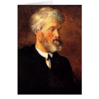 Portrait of Thomas Carlyle Greeting Card
