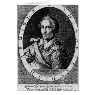 Portrait of Thomas Cavendish Greeting Cards
