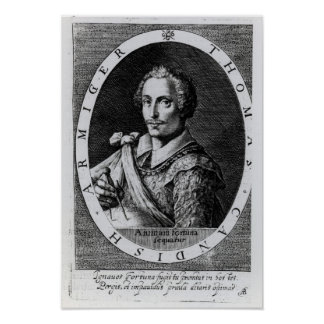 Portrait of Thomas Cavendish Print