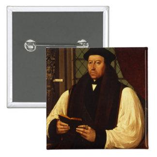 Portrait of Thomas Cranmer  1546 2 Inch Square Button