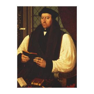 Portrait of Thomas Cranmer  1546 Canvas Print