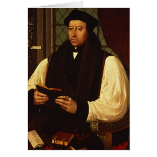 Portrait of Thomas Cranmer  1546 Greeting Card
