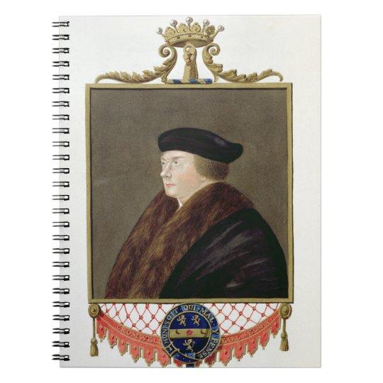 Portrait of Thomas Cromwell (c.1485-1540) Ist Earl Notebook