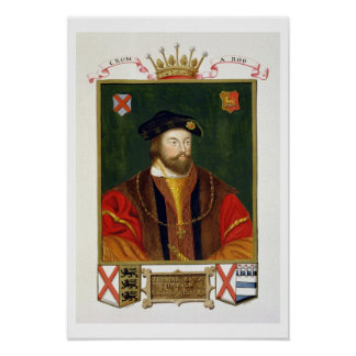 Portrait of Thomas Fitzgerald (1513-37) Lord Offal Poster