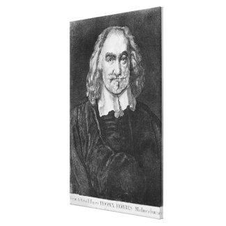 Portrait of Thomas Hobbes Stretched Canvas Print