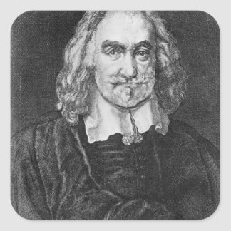 Portrait of Thomas Hobbes Square Sticker