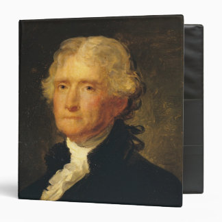Portrait of Thomas Jefferson 3 Ring Binders