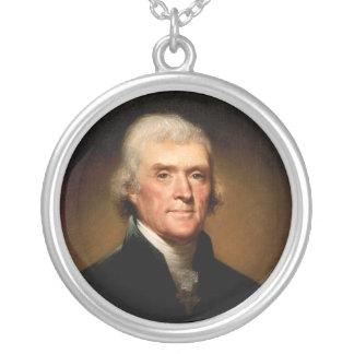 Portrait of Thomas Jefferson by Rembrandt Peale Necklace