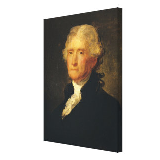 Portrait of Thomas Jefferson Canvas Print