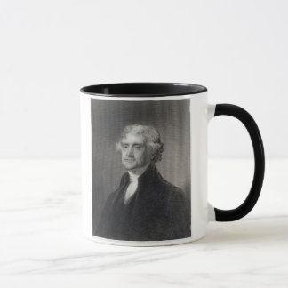 Portrait of Thomas Jefferson, engraved by Henry Br Mug
