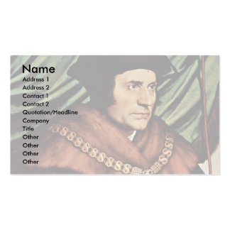 Portrait Of Thomas MoreBy Hans Holbein The Younger Business Cards