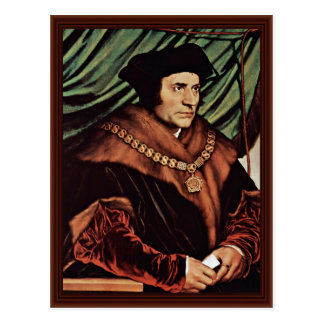 Portrait Of Thomas MoreBy Hans Holbein The Younger Postcard