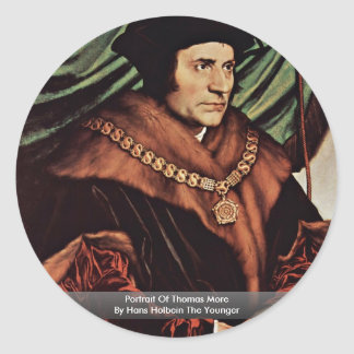Portrait Of Thomas MoreBy Hans Holbein The Younger Stickers