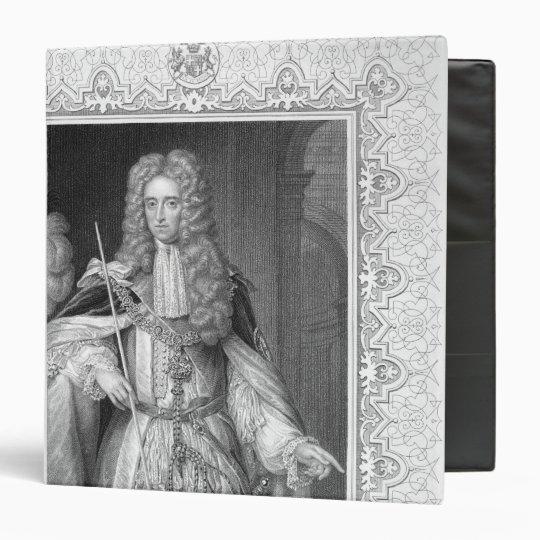 Portrait of Thomas Osborne, engraving 3 Ring Binder
