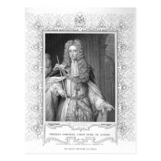 Portrait of Thomas Osborne, engraving Postcard