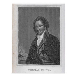 Portrait of Thomas Paine  from Volume I Postcard
