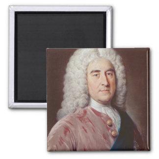 Portrait of Thomas Pelham Holles 2 Inch Square Magnet
