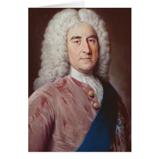 Portrait of Thomas Pelham Holles Greeting Card