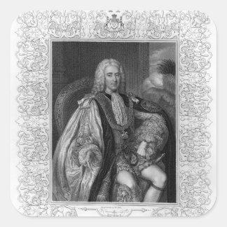 Portrait of Thomas Pelham-Holles Square Sticker