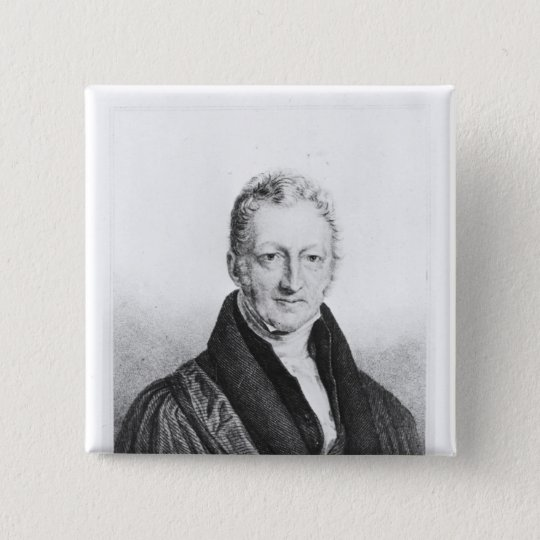 Portrait of Thomas Robert Malthus Button