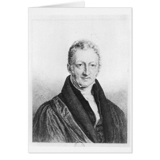 Portrait of Thomas Robert Malthus Card
