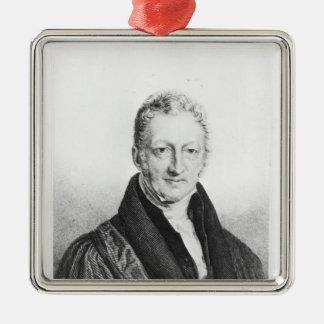 Portrait of Thomas Robert Malthus Metal Ornament