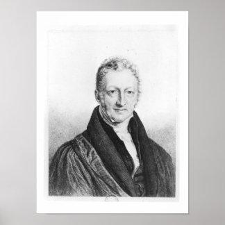 Portrait of Thomas Robert Malthus Poster