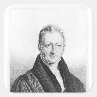 Portrait of Thomas Robert Malthus Square Sticker