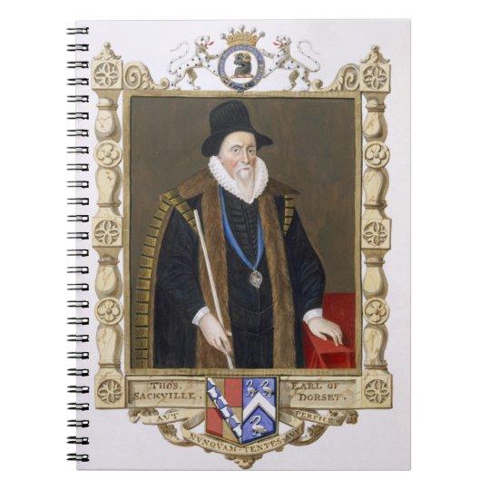Portrait of Thomas Sackville (1536-1608) 1st Baron Notebook